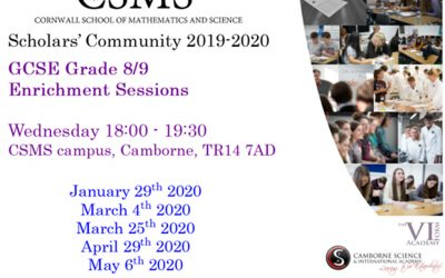 Grade 8/9 Maths Enrichment sessions – places still available